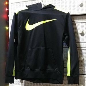 Black and Neon Green Nike Hoodie